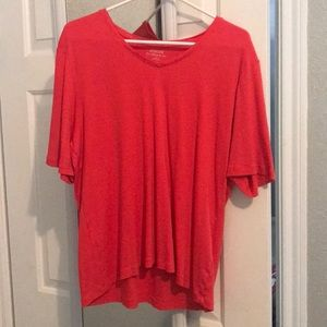 Plain coral red top